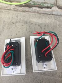 two rectangular black-red-and-green corded electric components Hamilton, L8L 3A3