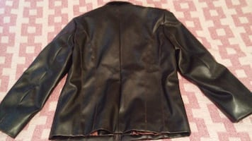 Brown Pleather Jacket Women's Medium Excellent condition