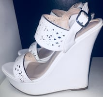 White high heels size 10