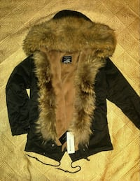 Parka With Real Raccoon Fur Size L  Toronto, M2R 1Z1