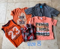 BOYS SUMMER CLOTHES SIZE 8 Fort Erie, L2A 4M8