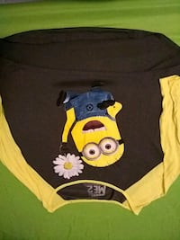 black and yellow Minion print sweater LaPlace, 70068