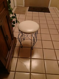 round white wooden side table