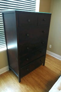 Brown tall wooden chest of drawers Toronto, M5R 1C8