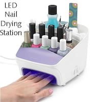 New LED Light 3-in-1 Nail Drying Station with Storage Lanham