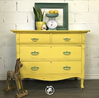 Vintage hand painted Dresser Pickering