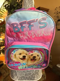 Child's Backpack and Lunch Bag With Dog Motif Jackson, 08527