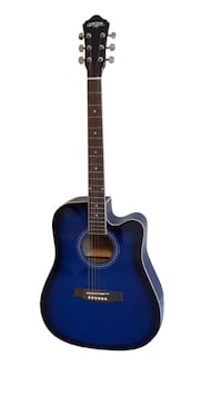 Blue acoustic guitar for beginners brand new