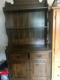 brown wooden cabinet with hutch Nashua, 03063