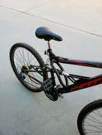 black and red full suspension mountain bike Rancho Cucamonga, 91730