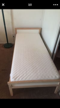 white and gray bed frame Vista, 92084