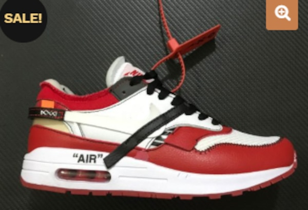 best sneakers b6175 d7770 Virgil Abloh x BespokeIND x Off-White X Nike Air Max 1s Red