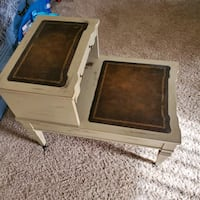 Two Tier Step End Table Crofton