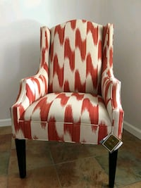 red and white fabric sofa chair Bakersfield, 93311