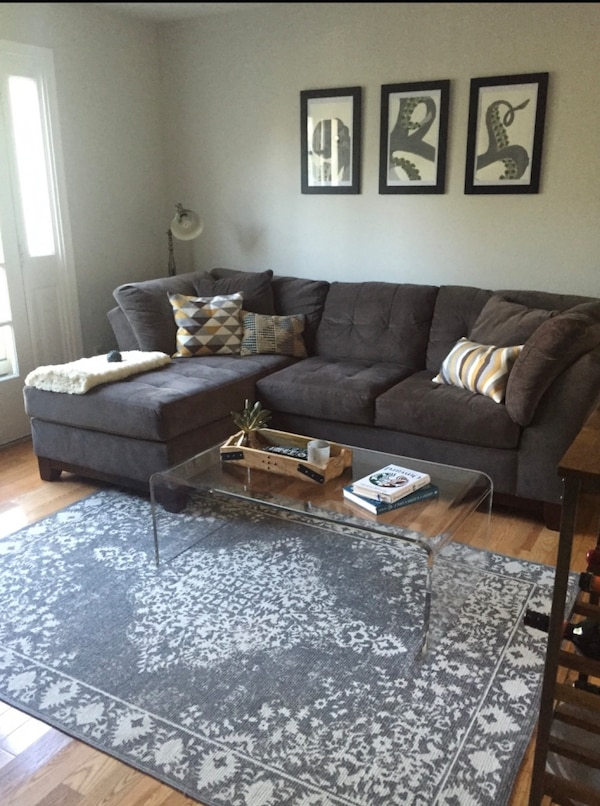 Sectional - Charcoal Gray