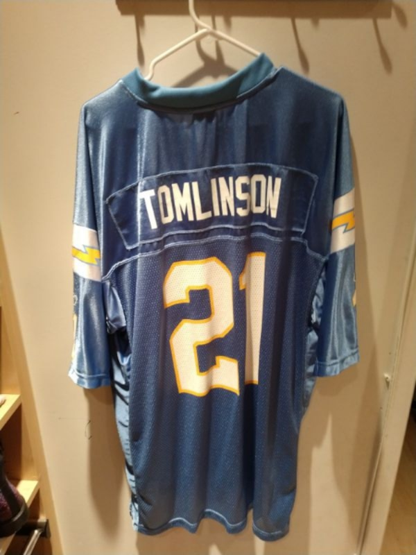 quality design caa56 6aa7c Chargers Authentic NFL Reebok size XL powder blue LaDainian Tomlinson jersey