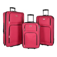 Travelers Club Genova 3pc Luggage Set Red Toronto, M8V 1X6