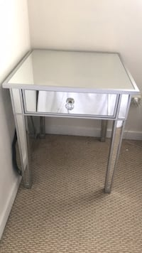 Beveled mirror side table