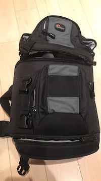 Lowepro camera bag, black.  Can be picked up in Vancouver or Richmond
