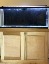 55 gallon fish tank/aquarium with natural hardwood stand and all accessories included  New York, 11691