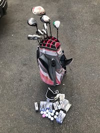Slazenger Philosophy Women's Golf Bag w/ 10 Clubs, TONS of Balls & Tees $300 or best offer Silver Spring, 20906