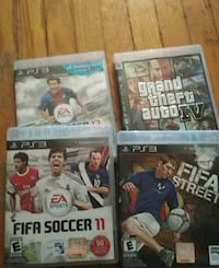 four assorted PS3 game cases Toronto, M6N 2J6