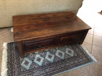 Mahogony coffee table full size Las Cruces, 88011