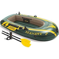 Seahawk 2 inflatable boat with an adult and child life vest Davidsonville, 21035