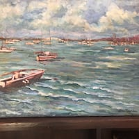 brown and black wooden boat painting Fallbrook, 92028