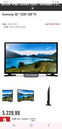 "NEW OPEN BOX Samsung 32"" HD LED ONLY $150 Toronto, M1P"