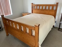 Queen size bed (with mattress) and two bed side tables 洛杉矶, 90036