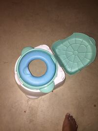 Baby's white. blue and green plastic potty trainer Edmonton, T5X 4T5