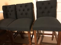 Navy barstools LIKE NEW tufted linen Fairfax, 22031