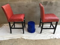 2 red leather counter stools/chairs Germantown, 20874