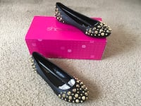 Black and Gold Studded Flats(Size 7.5) Silver Spring