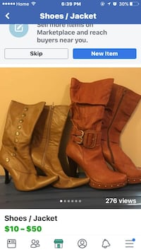 pair of brown leather boots Surrey, V4A 9G9