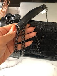 YSL Black Snakeskin Purse Dupe