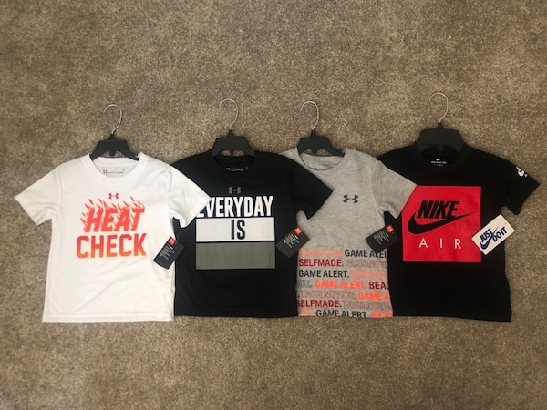 Nike and Under Armour Toddler Boy's T-Shirts