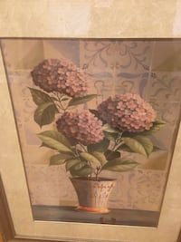 Brown wooden framed painting of flowers Ramsey, 07446
