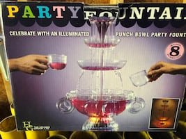 Nostalgia Electrics Lighted Party Fountain Open Box 8 cups