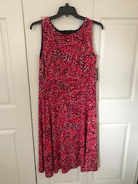Brand new jessica HOWARD PINK PRINT SLEEVELESS DRESS RUC size 16w (pick up only) Alexandria, 22315