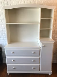 White wooden dresser with hutch.  Glen Burnie, 21061