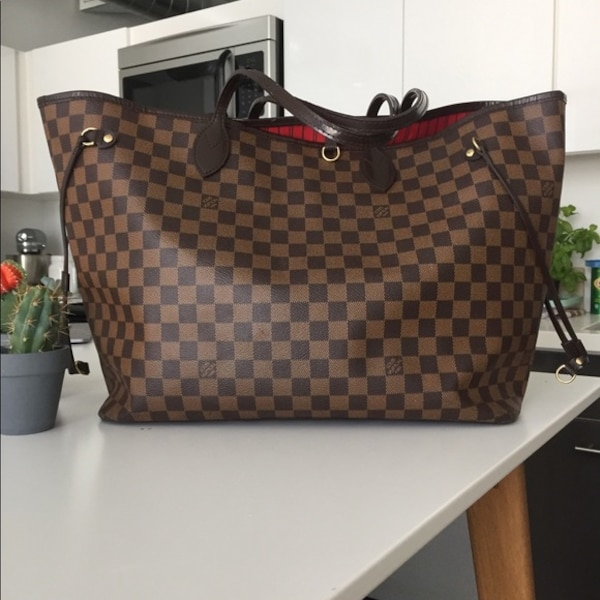 965d6e1be54 Used damier ebene Louis Vuitton leather tote bag for sale in New York -  letgo