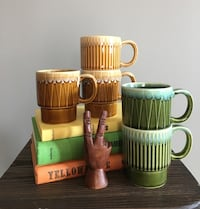 Mid Century Ceramic Stacking Mugs Calgary, T3K 5X7