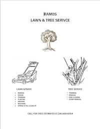 Only for houses who need lawn and tree service please contact me thank you Hyattsville, 20783
