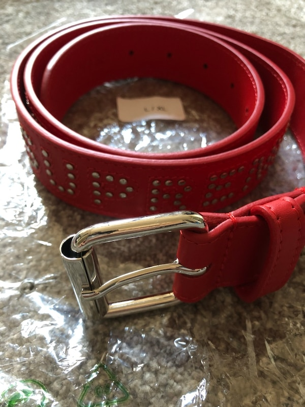 e49aec5deeb2 Used Red Supreme studded belt Large for sale in Mississauga - letgo