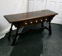 Gorgeous Vintage Sugar Hill Solid Pine Sofa Table  Hudson, 03051