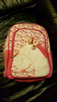 pink and white floral backpack Triangle, 22172