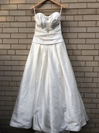 Strapless Madison Collection size 8 wedding dress
