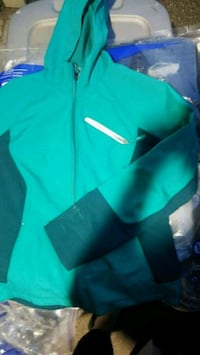 teal and black Nike zip-up jacket Aurora, 80013